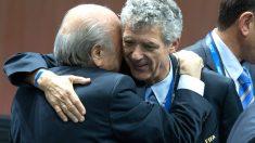 Villar junto a Blatter durante un acto (Getty)