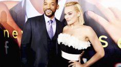 Will Smith y Margot Robbie en la premier de Focus. (Foto: Getty)