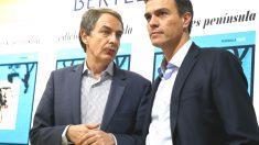 Zapatero y Pedro Sánchez presentando el libro del exministro Miguel Sebastián.