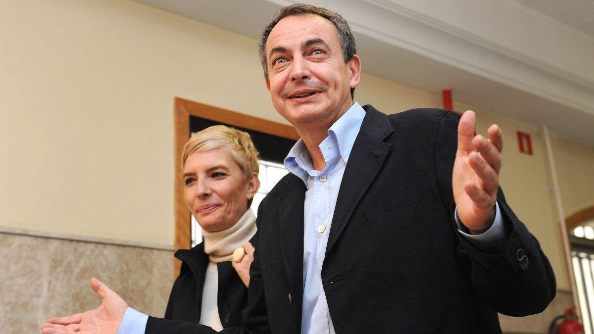 José Luis Rodríguez Zapatero junto a su mujer, Sonsoles Espinosa. (Foto: Getty)