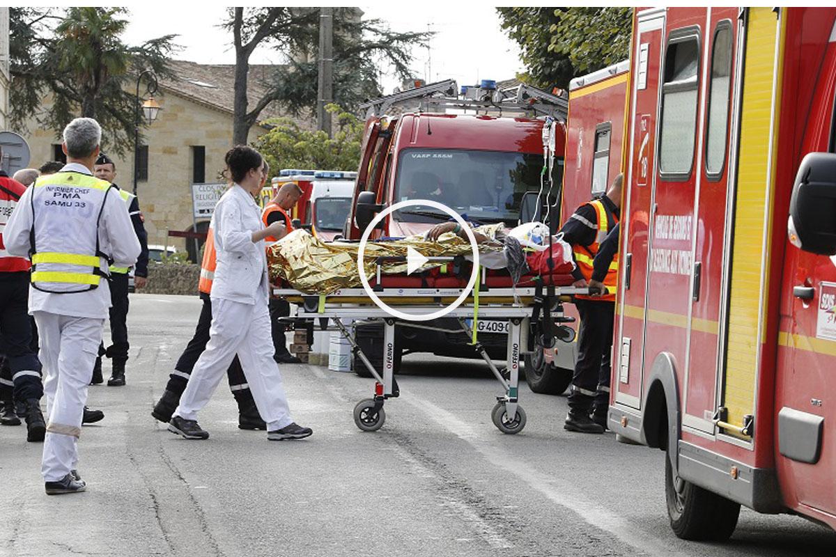 Las autoridades francesas han organizado un dispositivo formado por 62 efectivos de bomberos y 21 vehículos de apoyo.