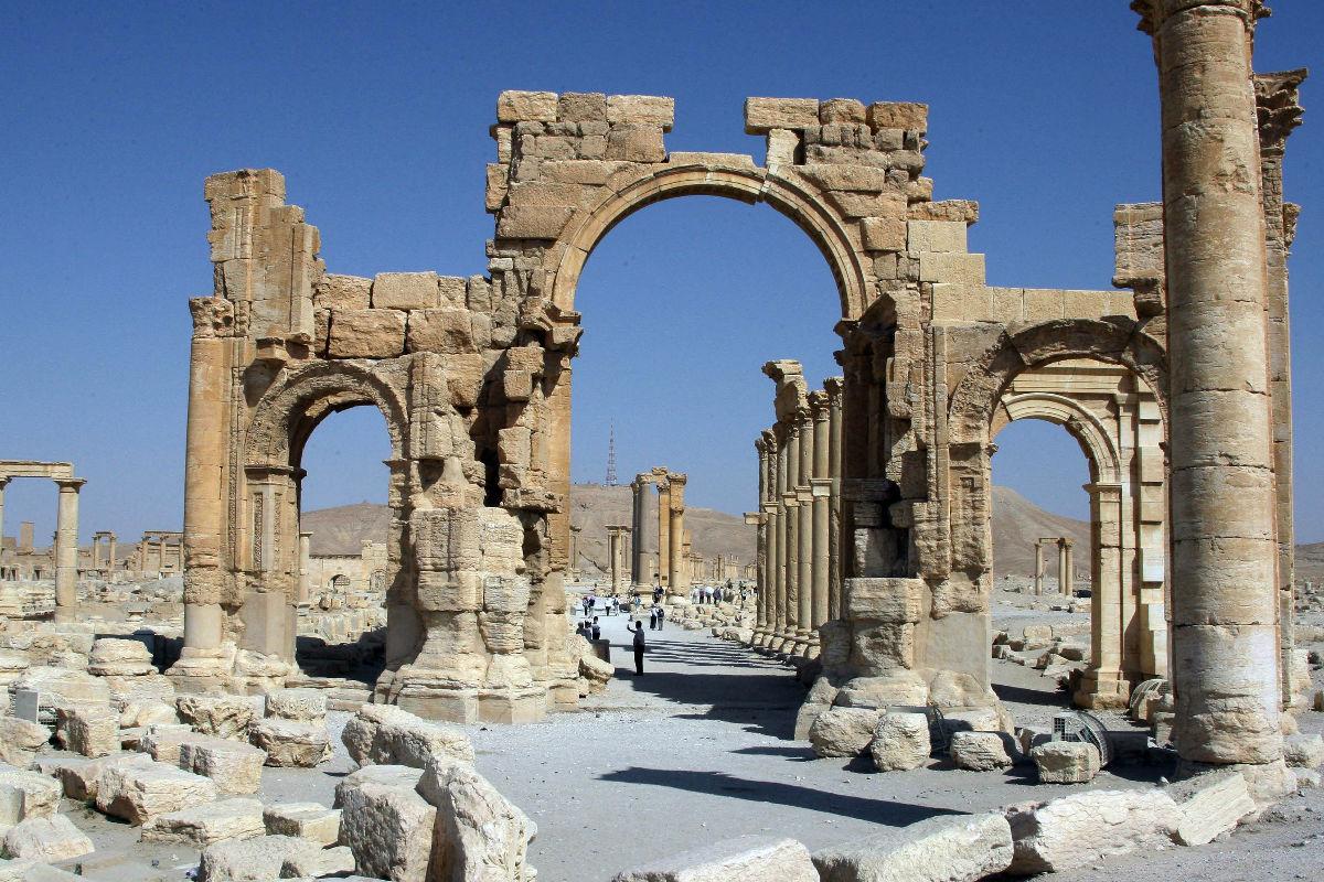 Así era el Arco del Triunfo de Palmira. (Foto: Getty)
