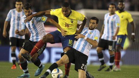 Erazo y Felipao le dan el triunfo a Ecuador ante Argentina.