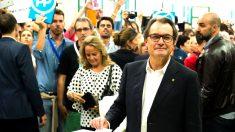 Artur Mas votando el pasado 27 de septiembre (Foto: Getty)