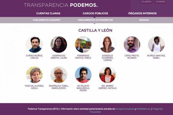 A las 13:45 Pedro de Palacio seguía constando como cargo público en el portal de transparencia de Podemos