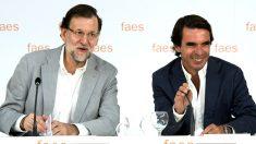 Mariano Rajoy y José María Aznar.