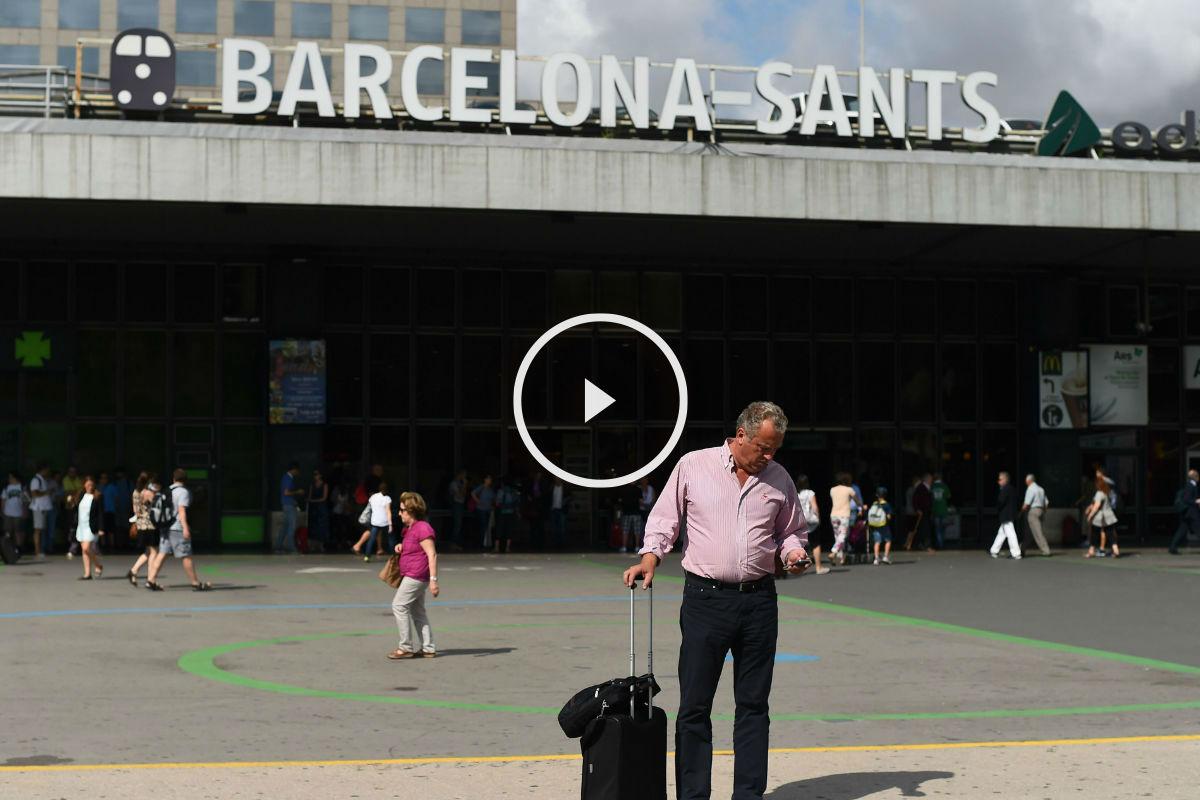 Estación de Sants de Barcelona. (Foto: Getty)