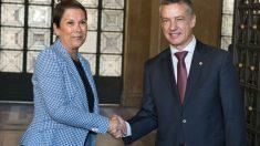 La presidenta de Navarra, Uxue Barkos, y el lehendakari Iñigo Urkulli. (Foto: Gobierno de Navarra)