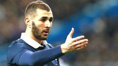 Karim Benzema, en un partido con la selección de Francia. (Getty)