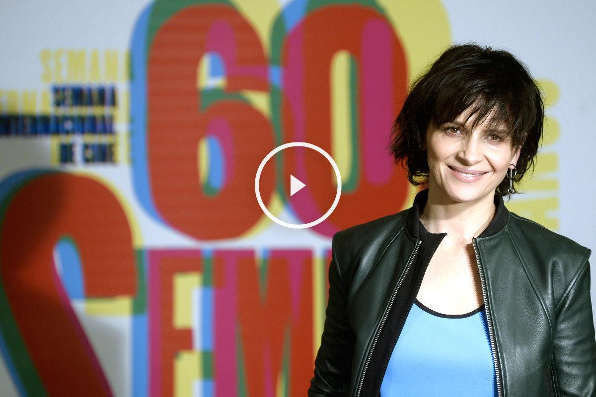La actriz Juliette Binoche en la Seminci (Foto: Efe)