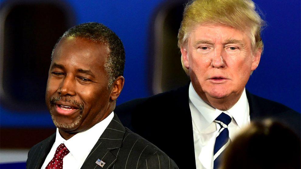 Ben Carson y Donald Trump. (Foto: Getty)