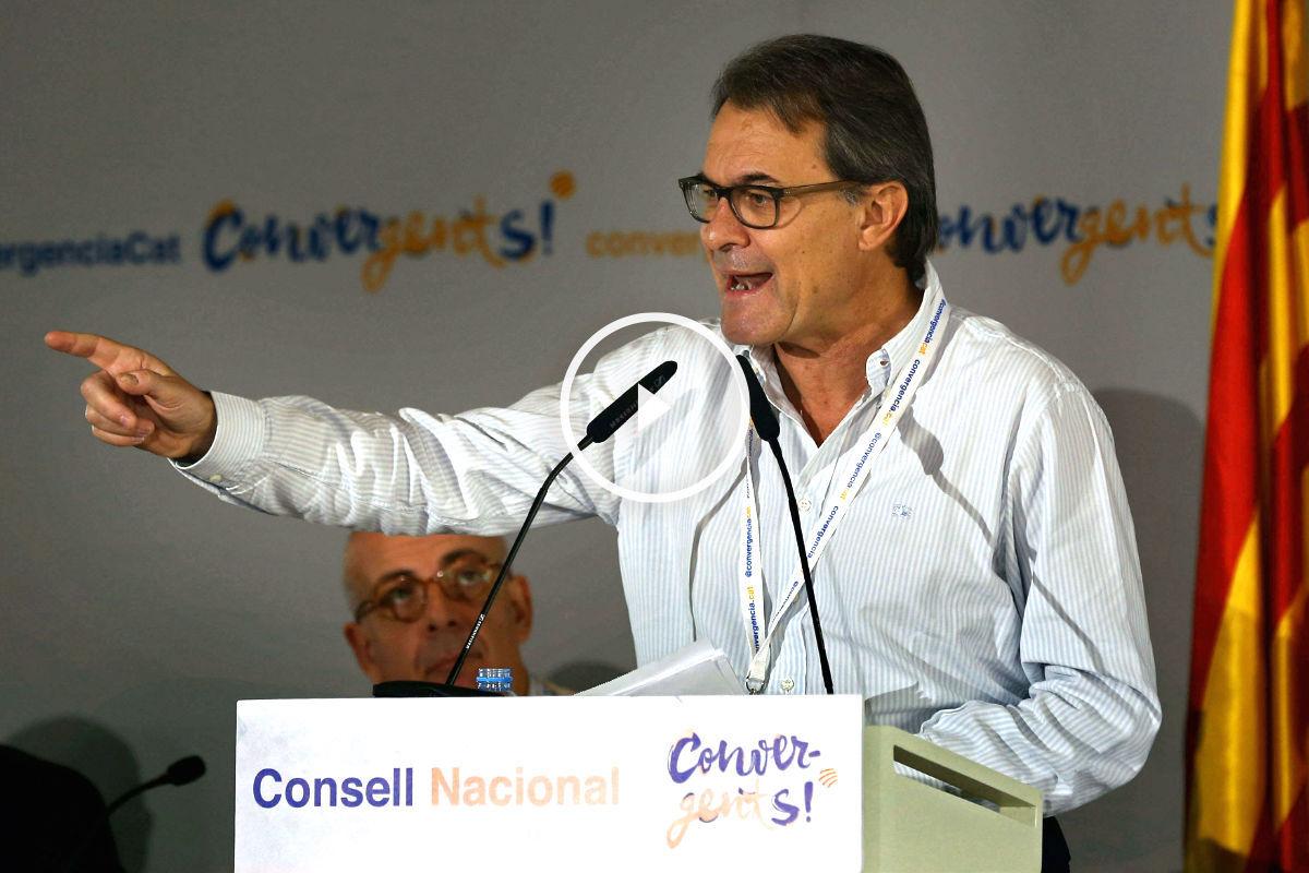 Artur Mas en el Consell Nacional de CDC (Foto: Efe)