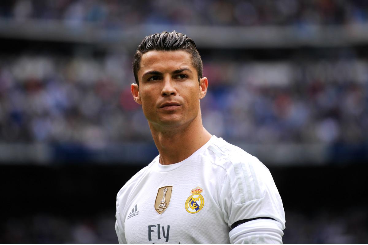 Cristiano Ronaldo, en un partido en el Bernabéu. (Getty)