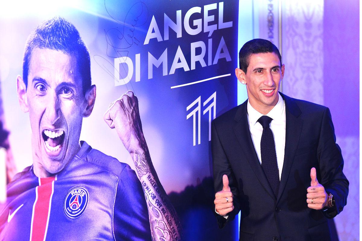 Ángel di María, en su presentación como jugador del PSG. (AFP)