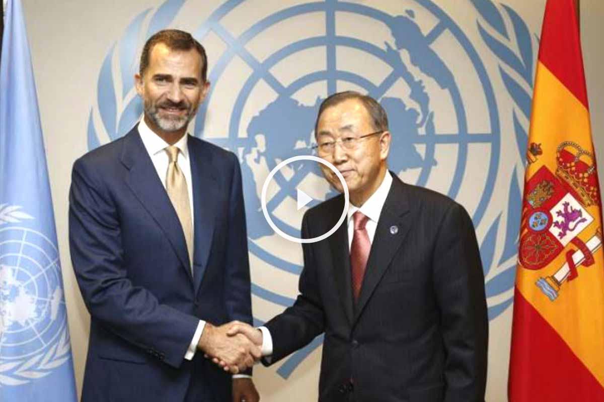 Felipe VI junto al secretario general de la ONU, Ban Ki-moon (Foto: EFE)