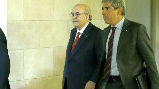 Los consellers Francesc Homs y Andreu Mas Colell en una reciente imagen (Foto: Efe)