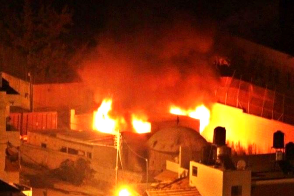 Imagen del incendio compartida en Twitter por un testigo.