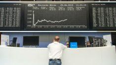 Panel con el índice bursátil