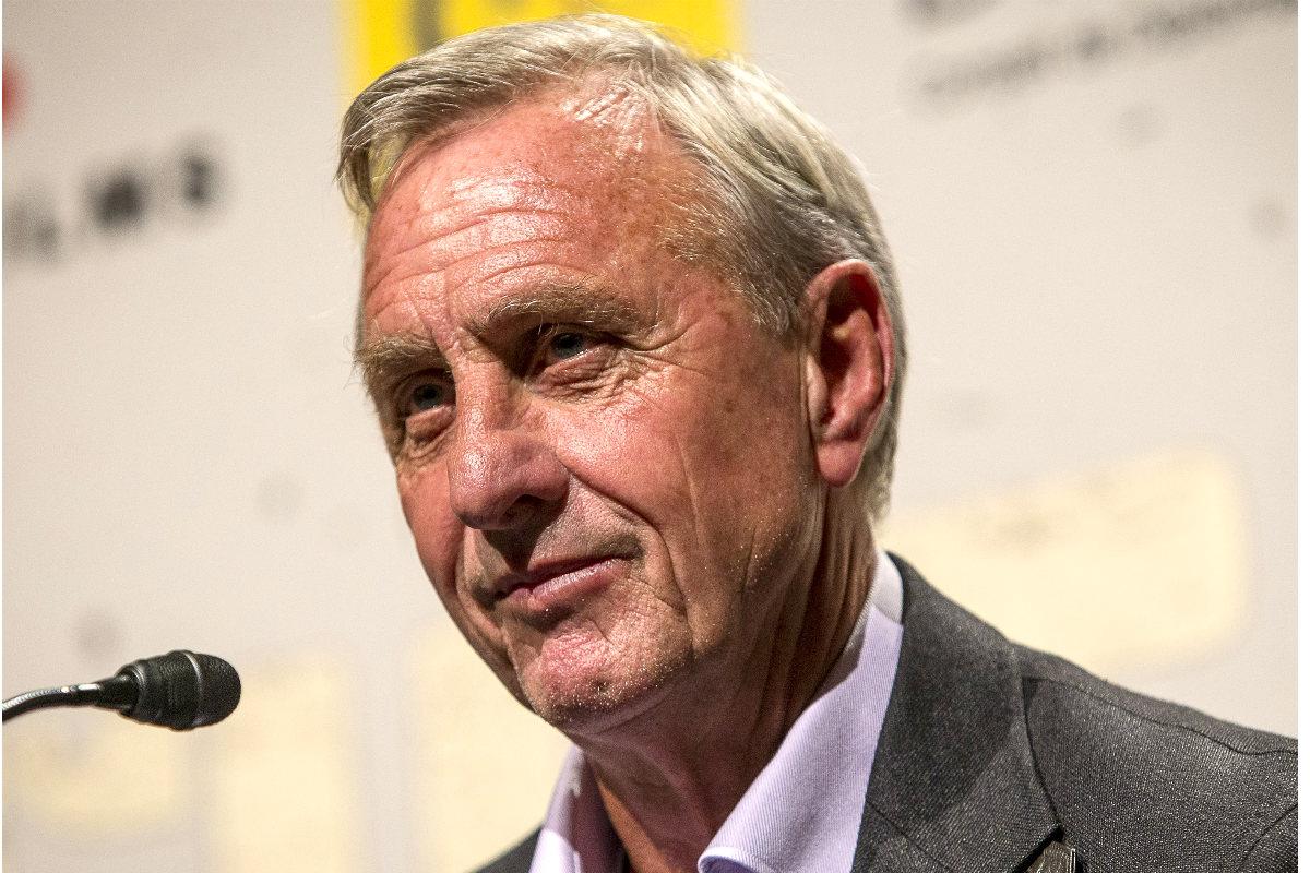 Johan Cruyff, durante una rueda de prensa. (Getty)