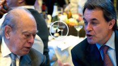 El ex presidente de la Generalitat Jordi Pujol Soley, junto al presidente en funciones Artur Mas (foto: Getty)