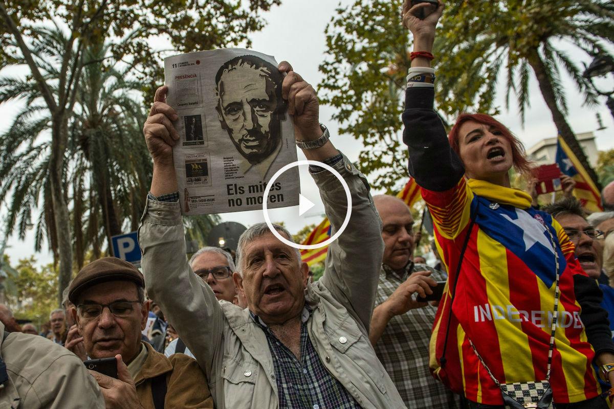Imagen de archivo de un homenaje a Lluís Companys. (Foto: Getty)