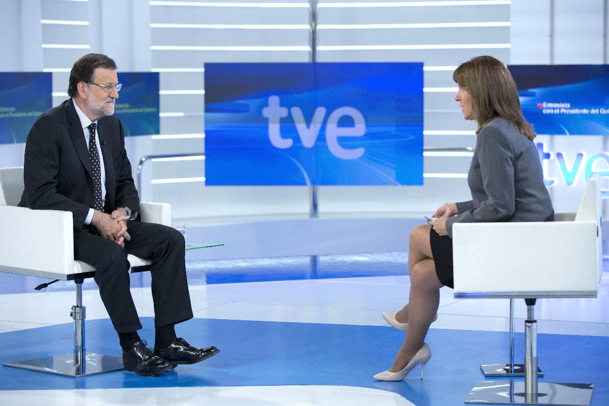 Mariano Rajoy durante su entrevista en TVE. (Foto: EFE)
