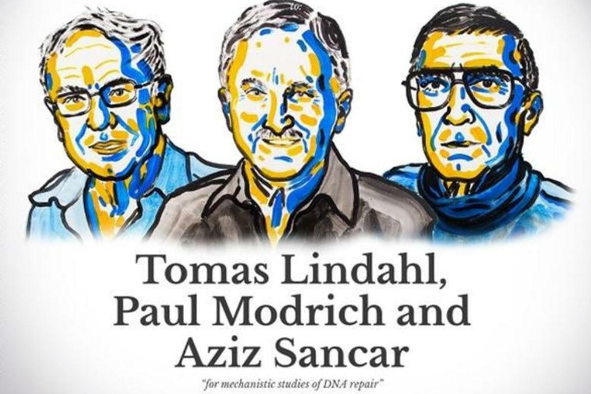 Tomas Lindahl, Paul Modrich y Aziz Sancar.