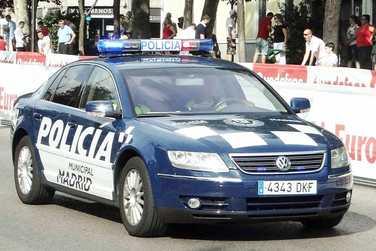 Coche policial de Madrid.