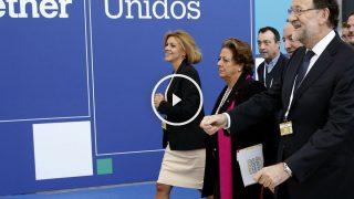 Mariano Rajoy a su entrada en el Congreso del PPE.  (Foto: EFE)