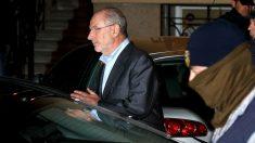 Rodrigo Rato tras declarar el pasado mes de abril (Foto: Getty)