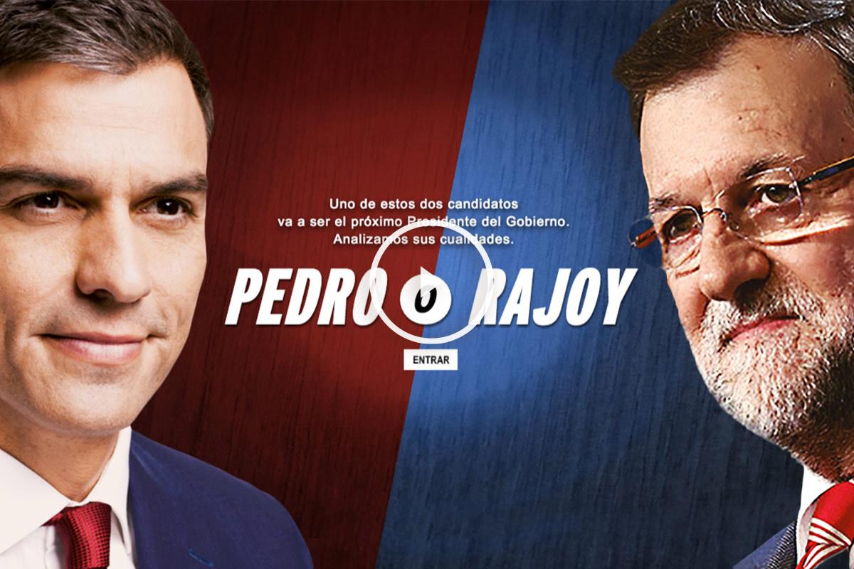 Imagen de la web estrenada por el PSOE.