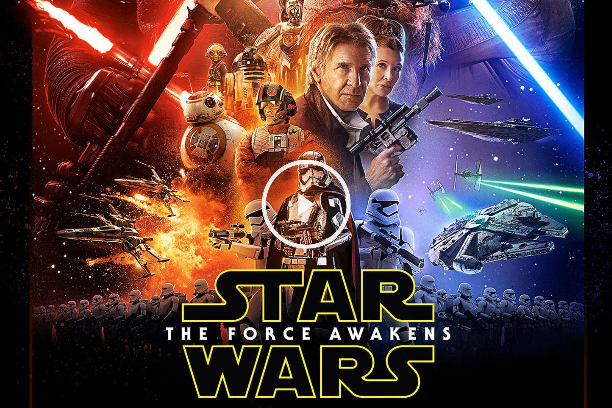 Póster oficial de El despertar de la fuerza, la última de la saga Star Wars.