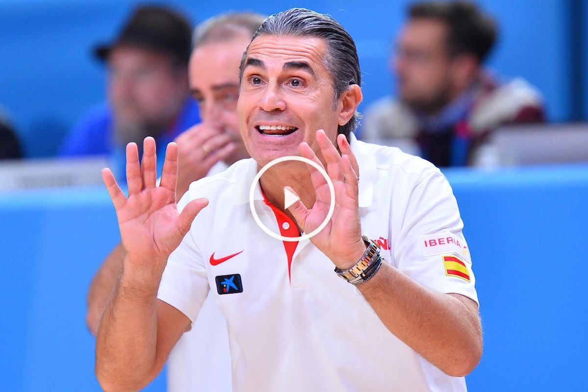 Sergio Scariolo dando instrucciones