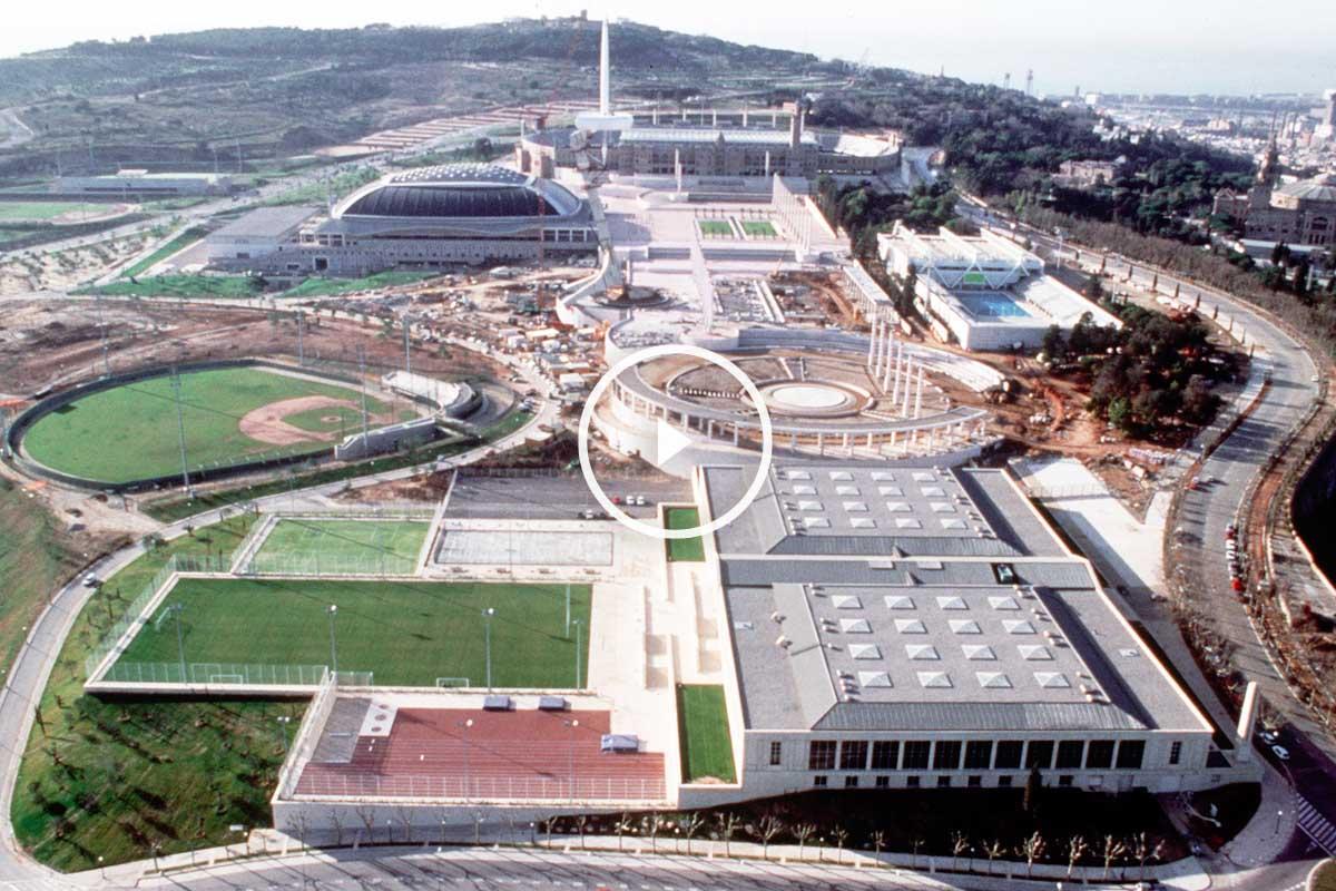 Vista aérea de la Villa Olímpica de Barcelona. (Foto: AFP)