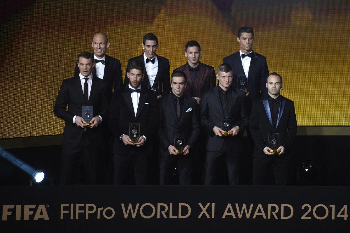 El 11 del año nombrado por la FIFA en 2014 (Foto: AFP)