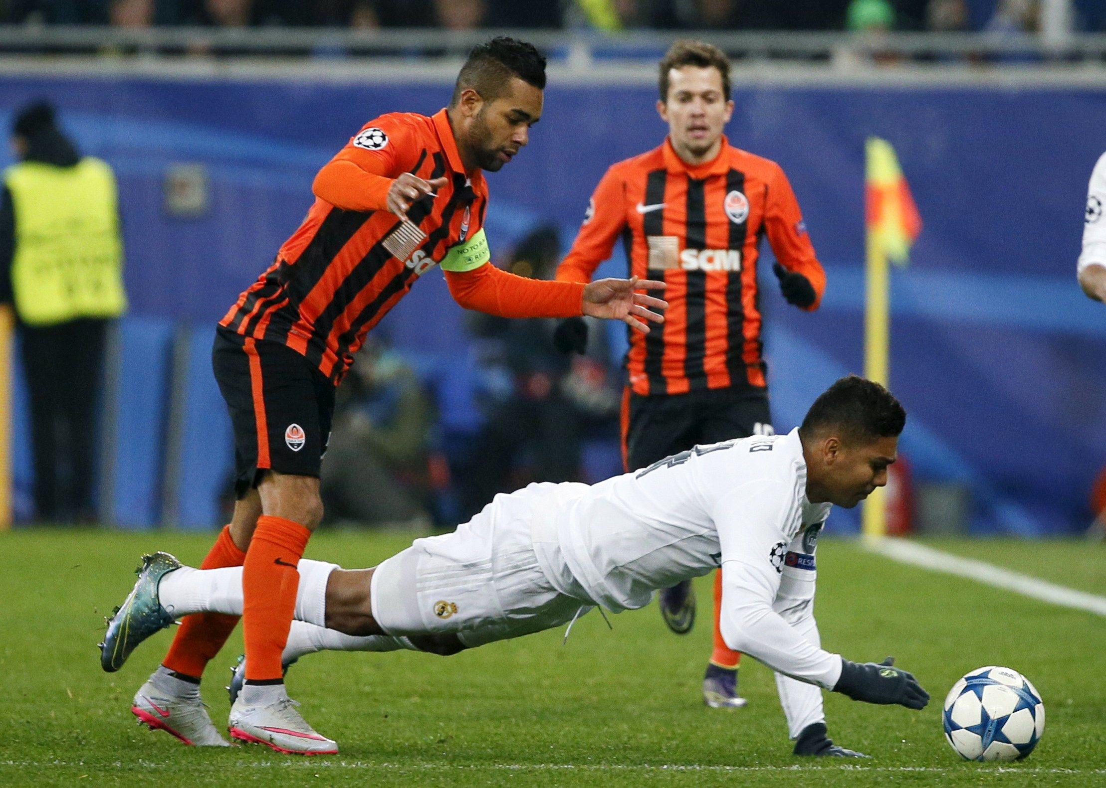 Casemiro, en el partido contra el Shakhtar. (Reuters)