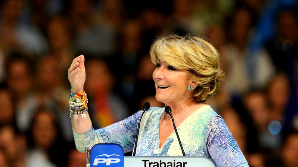 Esperanza Aguirre en un acto del PP (Foto:Gettyimages)