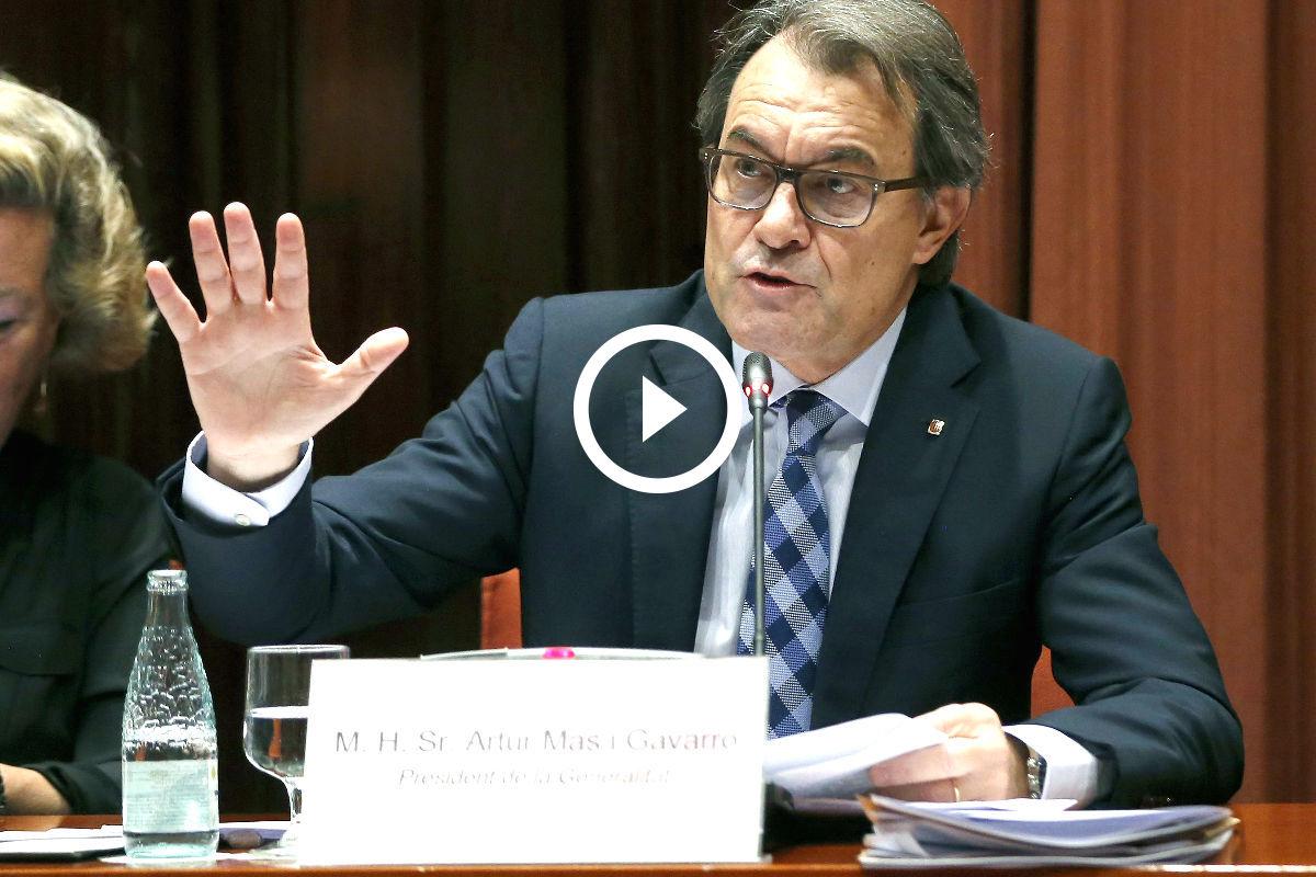 Artur Mas en el Parlament catalán (Foto: Efe)