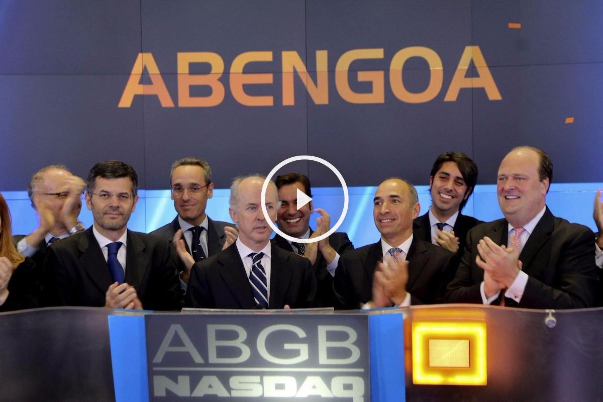 Acto de inicio de cotización de Abengoa en Wall Street. (Foto: EFE)