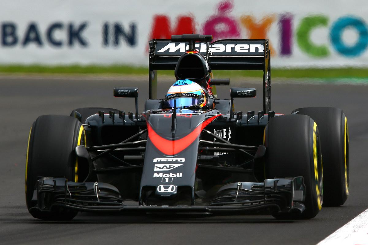 Alonso durante el GP de México (Getty)