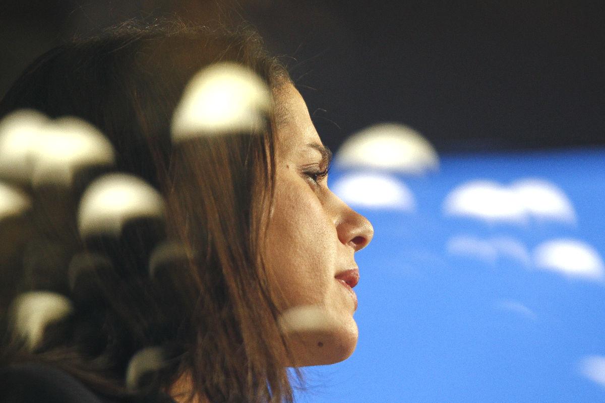 Ines Arrimadas en una rueda de prensa. (Foto: EFE)