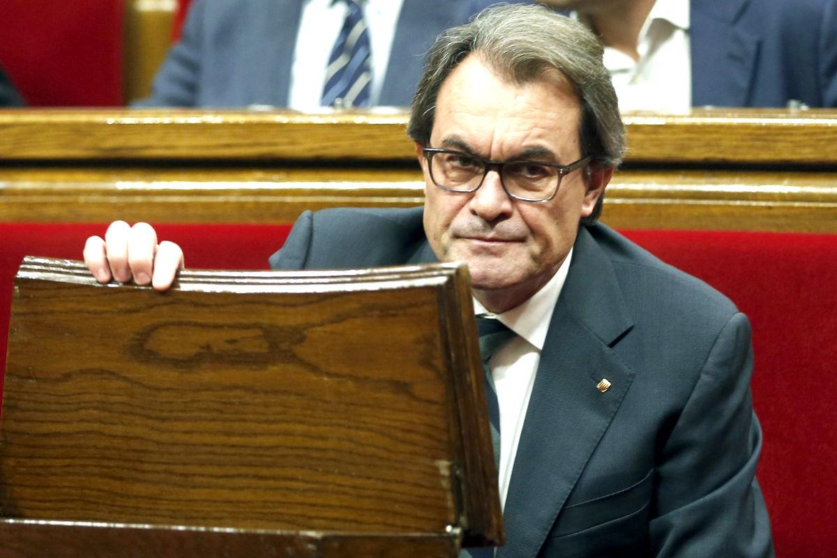 Artur Mas en el Parlament (FOTO:EFE)