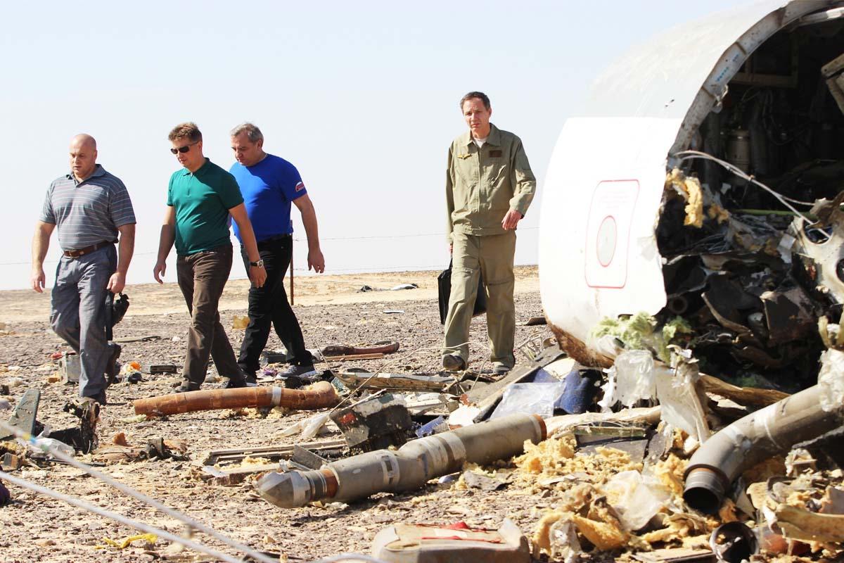 Restos del avión caído sobre la península del Sinaí (Foto: Getty)