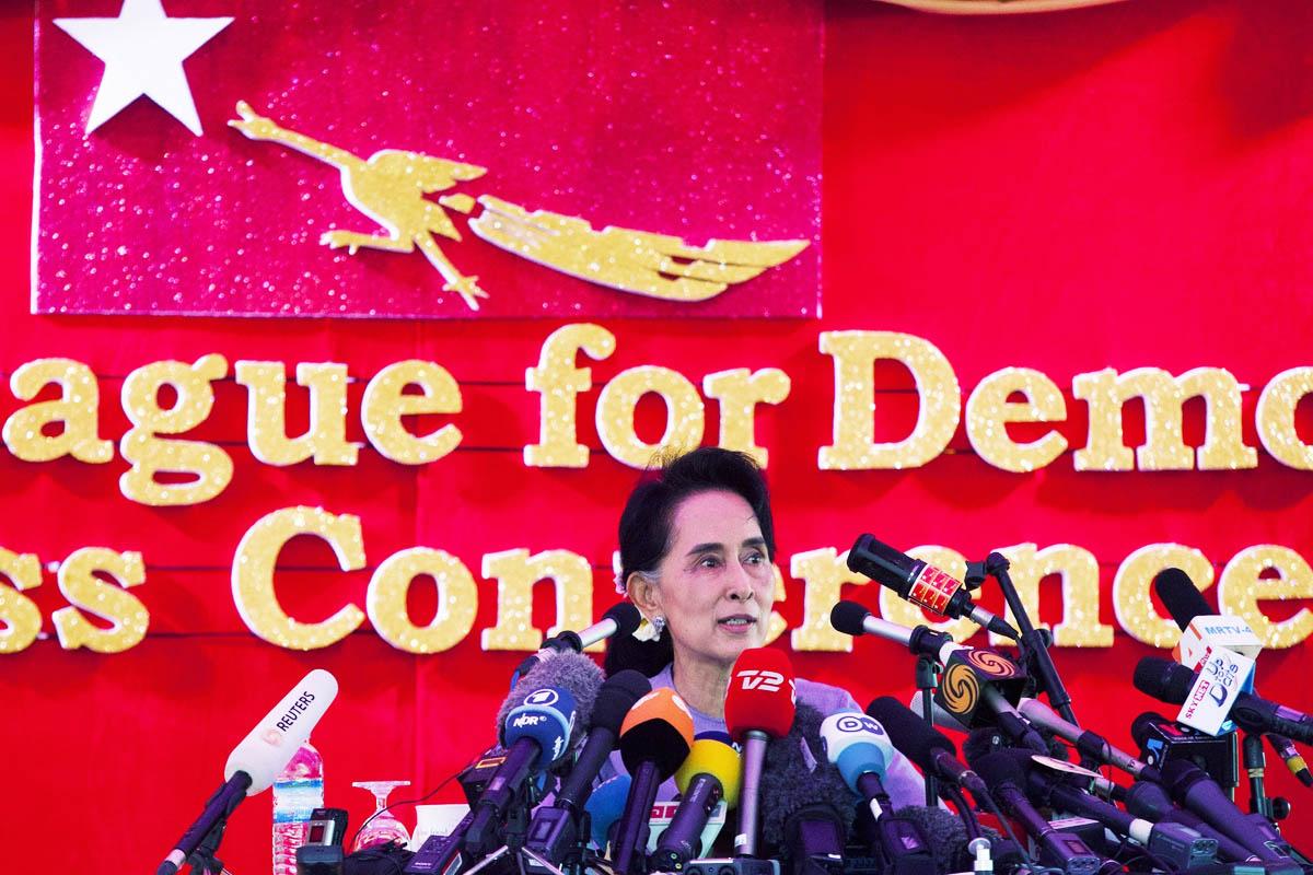 La vencedora de las elecciones en Birmania Aung San Suu Kyi (Foto: Getty)