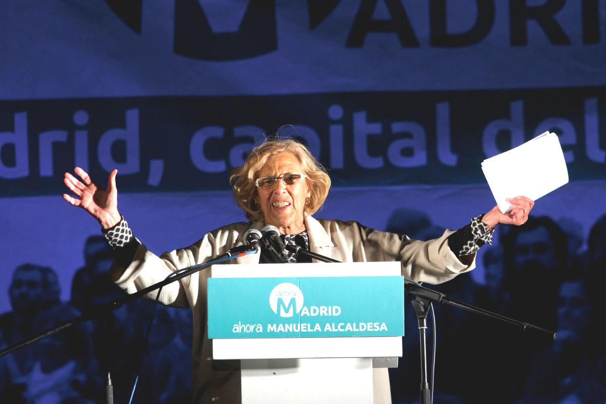 Manuela Carmen el día en que fue elegida alcaldesa de Madrid (FOTO: Gettyimages)