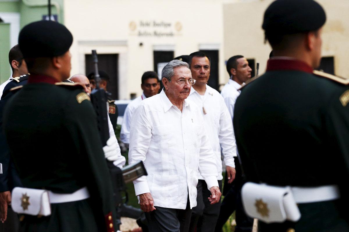 Raúl Castro, durante su visita a México (Foto: Reuters)