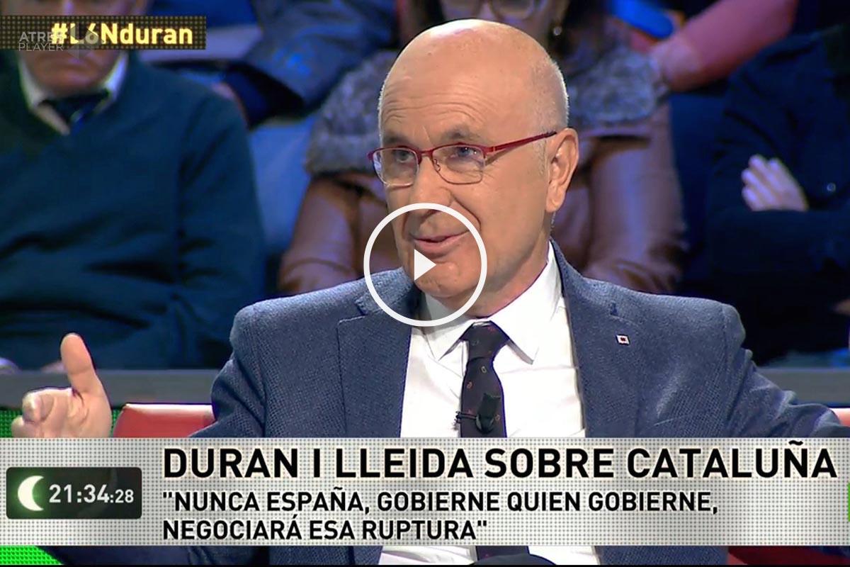 El secretario general de Unió, Josep Antoni Durán Lleida, en La Sexta Noche
