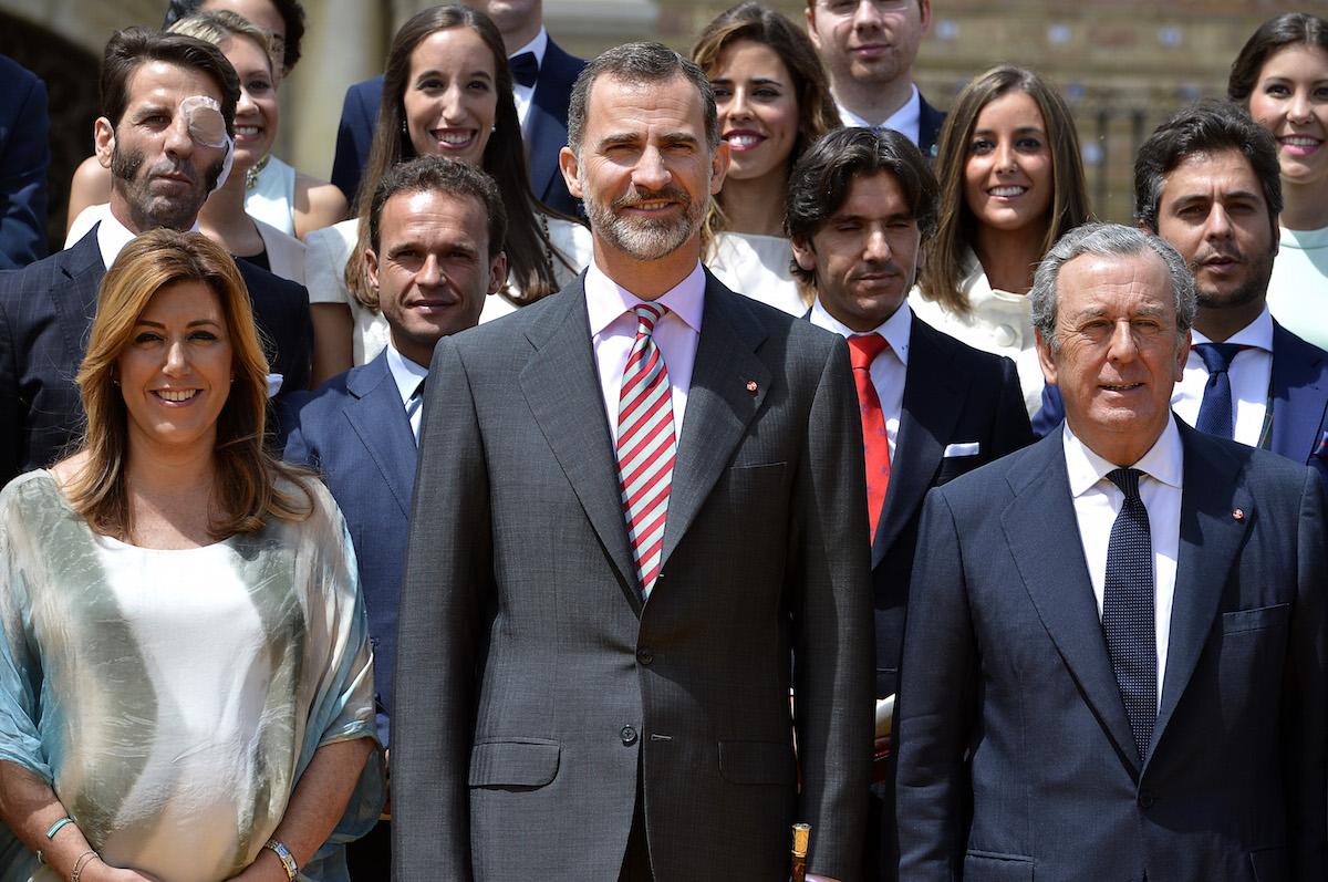 El Rey Felipe, Susana Díaz y javier Benjumea (Foto: GETTY)