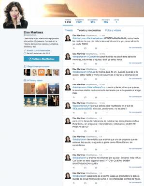 Tuits difundidos esta mañana por la ex directora de Ciudad de la Luz, Elsa Martínez