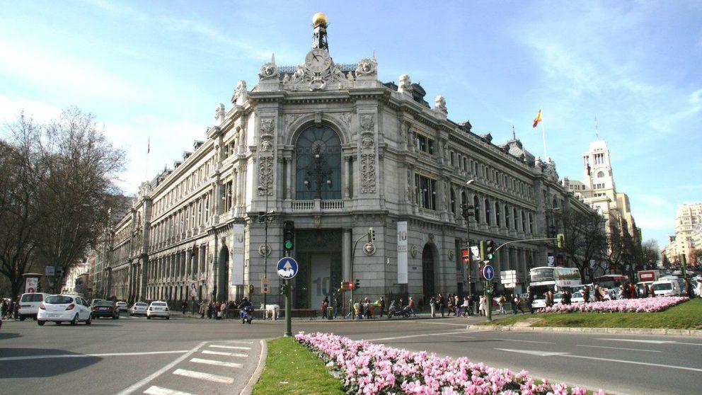 Fachada del Banco de España en la calle Alcalá